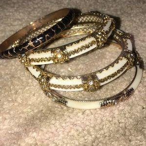 NWT Gold-Tone Bangle Bracelet Stack